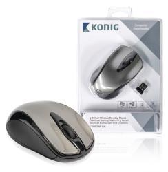 König CSMSDWL100 Draadloze desktop-muis met 3 knoppen