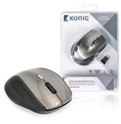 König CSMSDWL300 Draadloze desktop-muis met 5 knoppen