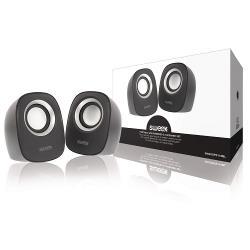 Sweex SW20SPS110BL Speaker 2.0 Bedraad 4 W Zwart/Zilver