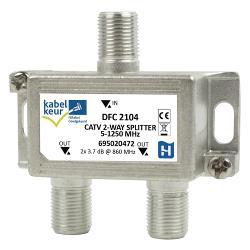 Hirschmann 695020472 CATV-Splitter 3.5 dB / 5 - 1250 MHz - 2 Uitgangen