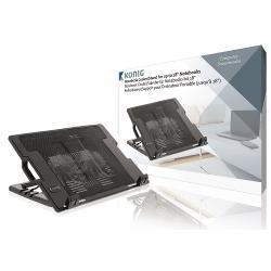 König CSNBC200BL Notebook Stand Plastic / Metal Black