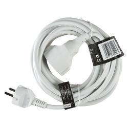 Brennenstuhl 1164020 Stroom Verlengkabel 3.00 m H05VV-F 3G1.5 IP20 Wit