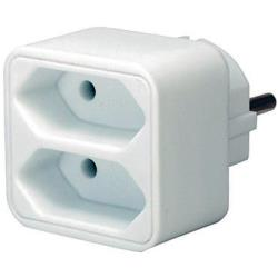 Brennenstuhl 1508030 Stopcontact Splitter 2 x Euro Wit