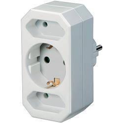 Brennenstuhl 1508050 Stopcontact Splitter 1 x Schuko / 2 x Euro Wit
