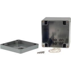 RND Components RND 455-00145 Kunststof behuizing 100 x 100 x 90 mm Donkergrijs ABS IP65