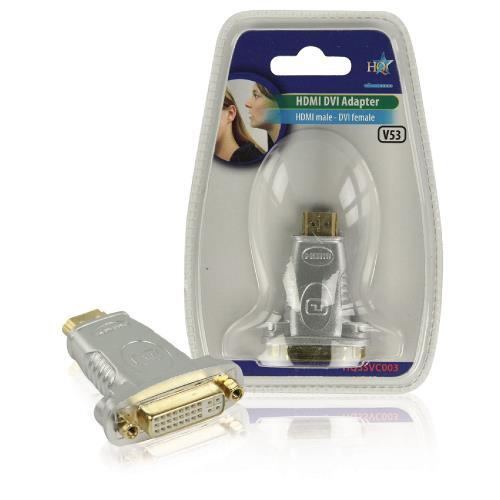HQSSVC003 High Speed HDMI Adapter HDMI-Connector - DVI-D 241-Pins Female Zwart