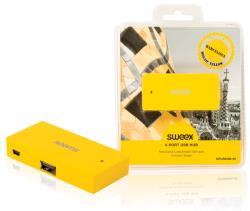 Sweex NPUS0480-05 4-poorts USB-hub Barcelona geel