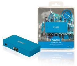 Sweex NPUS0480-07 4-poorts USB-hub Curaçao blauw