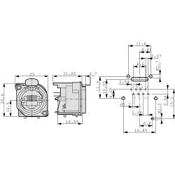Neutrik NE8FBV Panel mount jack RJ 45 8 Nickel
