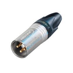 Neutrik NC3MXX-EMC XLR cable plug 3 XX/EMC-XLR soldeer connecties Vernikkeld