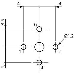 Neutrik NC3MD-V XLR Panel-mount male receptacle 3 D Verticaal / PCB Mounting Vernikkeld