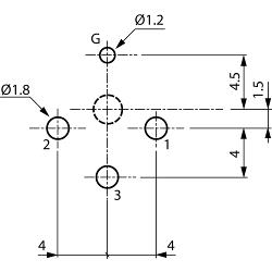 Neutrik NC3FD-V XLR Panel-mount female receptacle 3 D Verticaal / PCB Mounting Vernikkeld