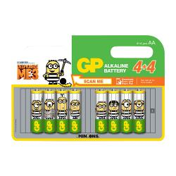 GP 03015ADHC8MINIONS Alkaline Batterij AA-Promotional Blister