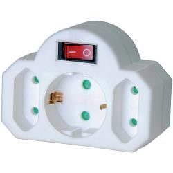 Brennenstuhl 1508100 Stopcontact Splitter Aan / Uit-Schakelaar 1 x Schuko / 2 x Euro Wit
