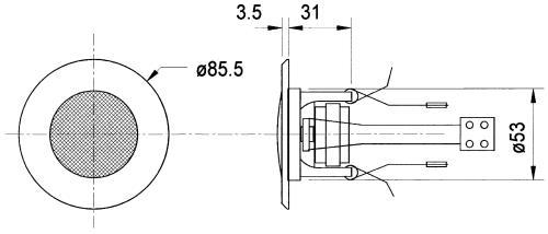 "Visaton 50097 Plafond luidspeker 5 cm (2"")"