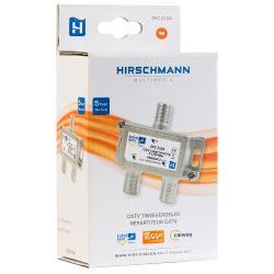 Hirschmann 695020471 CATV-Splitter 3.5 dB / 5 - 1250 MHz - 2 Uitgangen