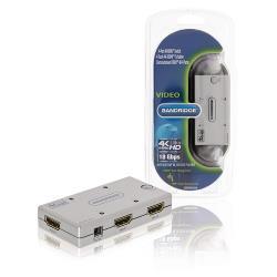 Bandridge BBVSW3434 2-Poorts Ultra HD HDMI Schakelaar Zilver