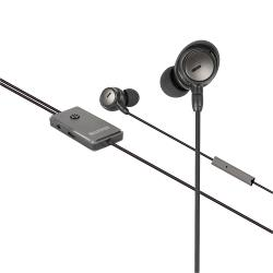 Sweex SWANCHS100GY Headset ANC (Active Noise Cancelling) In-Ear 3.5 mm Bedraad Ingebouwde Microfoon 120 cm Antraciet/...