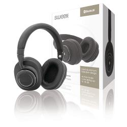 Sweex SWBTANCHS200BK Headset Bluetooth / ANC (Active Noise Cancelling) Over-Ear Zwart/Zilver