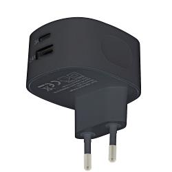 Sweex CH-002BL Lader 2 - Uitgangen 3.4 A USB / USB-C Zwart