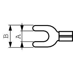 RND Connect RND 465-00039 Spade terminal Rood 5.3 mm N/A