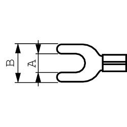 RND Connect RND 465-00042 Spade terminal Geel 5.3 mm N/A