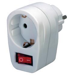 Brennenstuhl 1508070 Stopcontact Adapter Aan/Uit-Schakelaar F (CEE 7/3) Wit