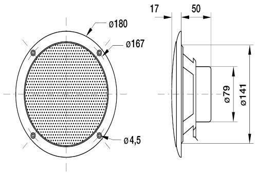Visaton 2136 Broadband speaker 4 ? 80 W