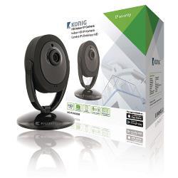 König SAS-IPCAM200B HD Pan-Tilt IP-Camera Binnen 1280x720 Zwart