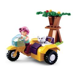 Sluban M38-B0600C Bouwstenen Girls Dream Serie Motorcycle with Sidecar