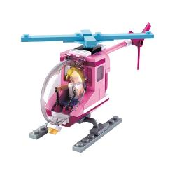 Sluban M38-B0600D Bouwstenen Girls Dream Serie Beach Helicopter