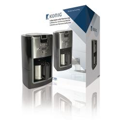 König KN-COF10S Koffiezetapparaat 800 W 10 Kopjes Zwart/Zilver