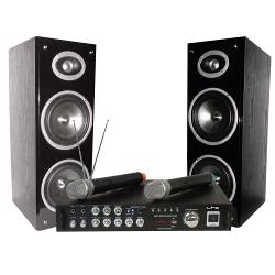 LTC Audio KARAOKE-STAR3-WM Karaoke set met digital display, bluetooth & 2 vhf microfoons (0)
