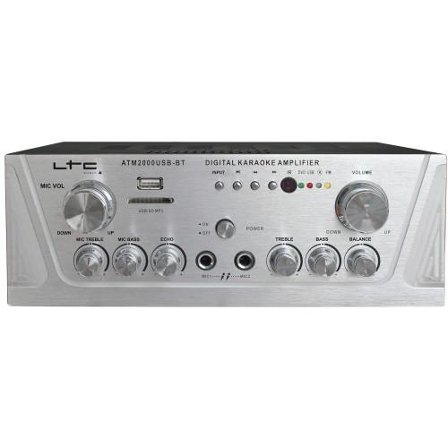 Atm2000usb stereo versterker met karaokee & usb/sd/mp3