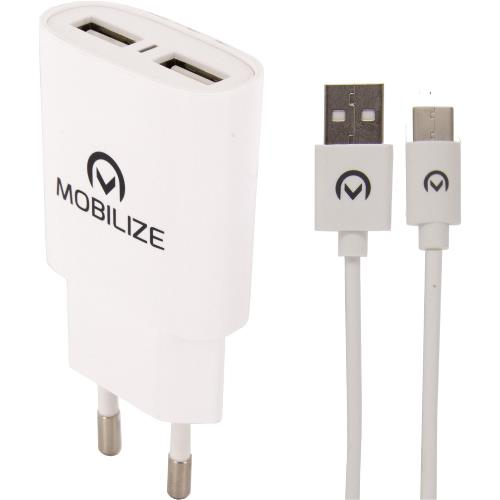 MOB-23121 Universele AC Stroom Adapter USB / Micro-USB