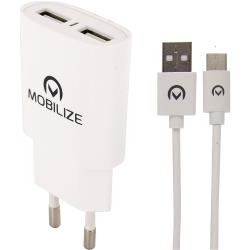 Mobilize 23121 Universele AC Stroom Adapter USB / Micro-USB