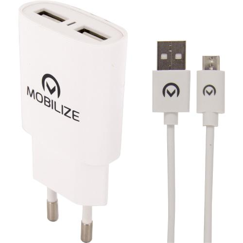 MOB-23119 Universele AC Stroom Adapter USB / Micro-USB