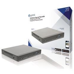 König SAS-AHD1008 8-Kanaals CCTV Recorder HDD 1 TB
