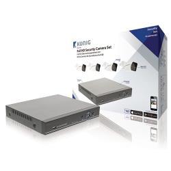 König SAS-AHDSET04 CCTV-Set HDD 1 TB - 4x Camera
