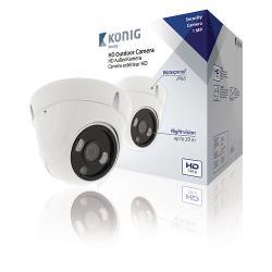 König SAS-AHDCAM01 Dome Beveiligingscamera Wit