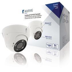 König SAS-AHDCAM02Z Dome Beveiligingscamera Wit