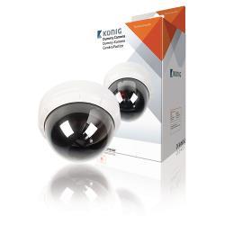 König SAS-DUMMY010W Dome Dummy Camera IP44 Wit