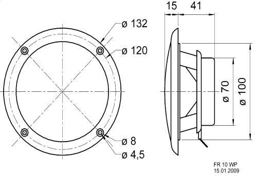 "Visaton 2130 Full-range luidspreker zoutwaterbestendig 10 cm (4"") 4 Ohm zwart"