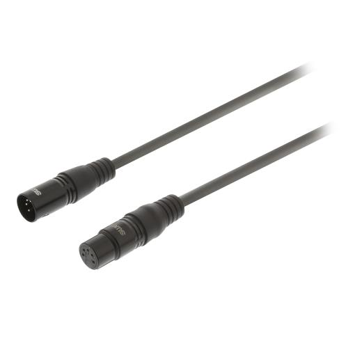 Sweex SWOP15500E15 XLR Digitale Kabel XLR 5-Pins Male - XLR 5-Pins Female 1.5 m Donkergrijs