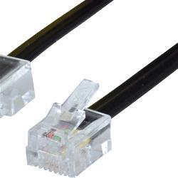 Valueline VLTP90201B50 Telefoonkabel RJ11 (4/6) Female - RJ45 (4/8) Male 5.00 m Zwart