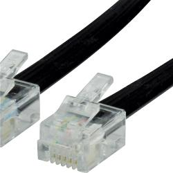 Valueline VLTP90300B10 Telefoonkabel RJ12 (6P6C) Male - RJ12 (6P6C) Male 1.00 m Zwart