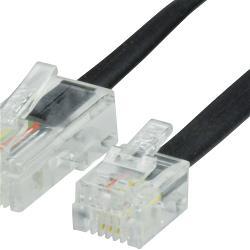 Valueline VLTP90310B20 Telefoonkabel RJ12 (6P6C) Male - RJ45 (8P6C) Male 2.00 m Zwart