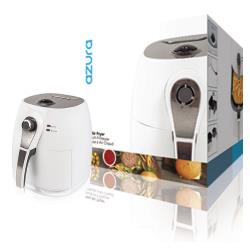 AzurA AZ-AF10W Hot Air Fryer 1400 W 3 l Wit