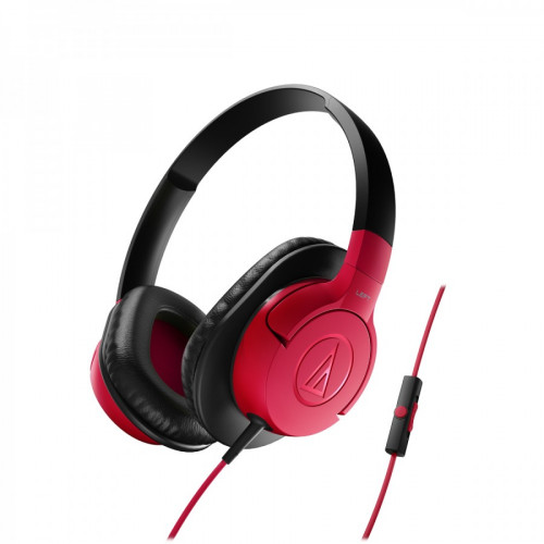 Audio Technica ATH-AX1IS portable hoofdtelefoon rood