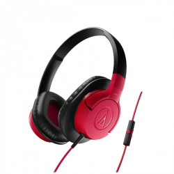 Audio Technica ATH-AX1IS portable hoofdtelefoon rood